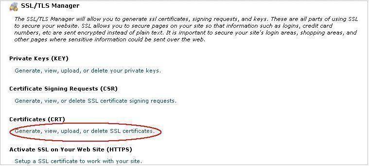 Установка ssl сертификата cpanel продвижение сайта по трафику екатеринбург